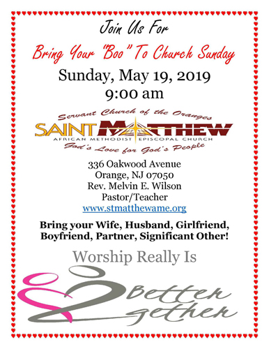 Bring Your Boo to Church Sunday