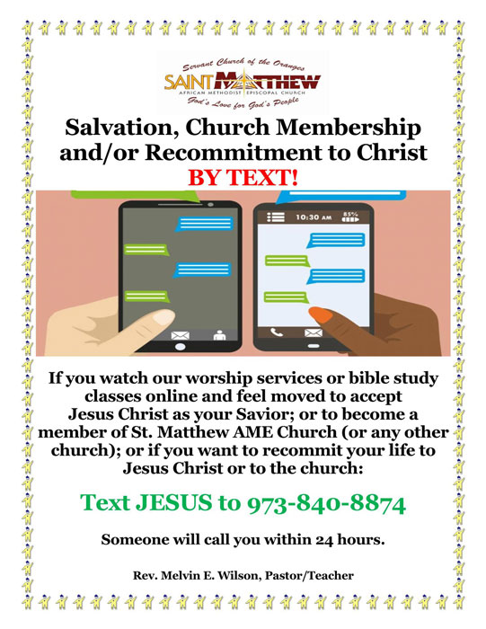 Salvation by Text